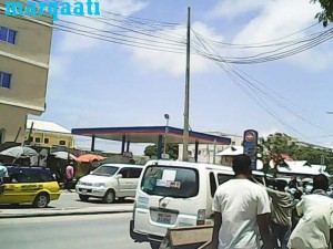 This petrol station is on public land. It was apparently sold by the former Banadir administration, with Federal Government support.